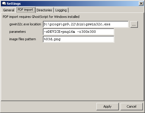 CbxConverter: PDF import