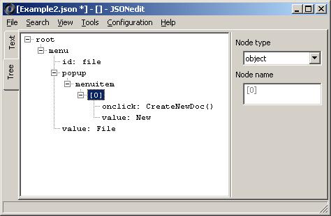 JSONedit - JSON editor: array generator